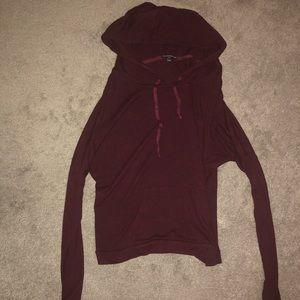 Burgundy Thin Sweatshirt